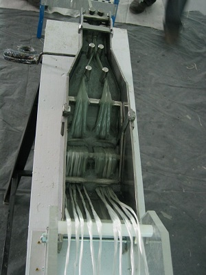 Pultruder for glass roving